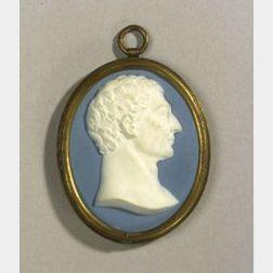 Wedgwood and Bentley Solid Blue Jasper Portrait Medallion of George Washington