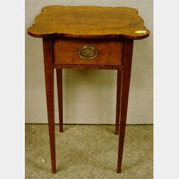 Charles Dewey Federal-style Tiger Maple One-Drawer Stand