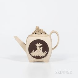 Turner White Stoneware Teapot and Cover