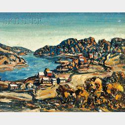 Walter Emerson Baum  (American, 1884-1956)      River Scene