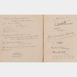 (Hoover, Herbert (1874-1964)), and others, Signed Album