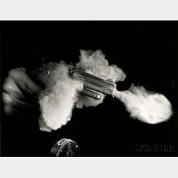 Harold Eugene Edgerton (American, 1903-1990)      Antique Gun Firing
