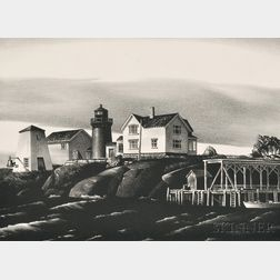 Stow Wengenroth (American, 1906-1978)      Lighthouse, Ten Pound Island