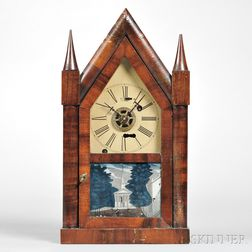 Silas B. Terry Miniature Torsion Steeple Clock
