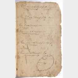Exercise Book, Manuscript on Laid Paper.