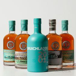 Mixed Bruichladdich, 5 750ml bottles (ot)