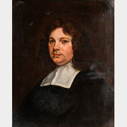 Dutch School, 17th Century Style      Portrait Bust of a Man with a Linen Collar