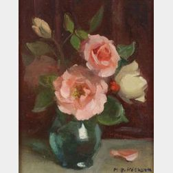 Marguerite Stuber Pearson (American, 1898-1978)  Still Life with Pink Roses