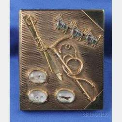 14kt Bi-color Gold, Enamel and Reverse Painted Crystal Case, Udall & Ballou