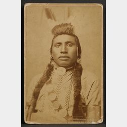 Cabinet Card of a Plains Indian Man