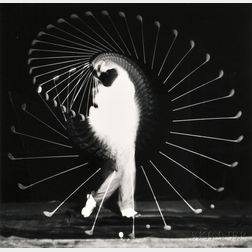Harold Eugene Edgerton (American, 1903-1990)      Two Athletic Studies: Moving Skip Rope