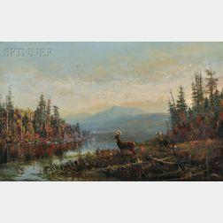 Arthur Fitzwilliam Tait (American, 1819-1905)      South Pond n' Long Lake, Hamilton County, New York