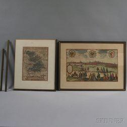 Two Framed Maps of Nuremberg