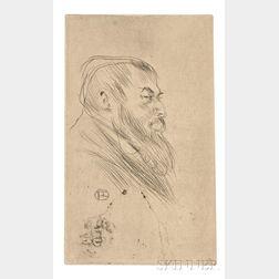 Henri de Toulouse-Lautrec (French, 1864-1901)      Tristan Bernard