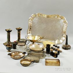 Group of Miscellaneous Silver Tableware and Accessories