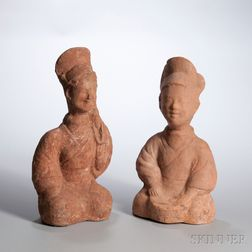 Two Pottery Entertainers