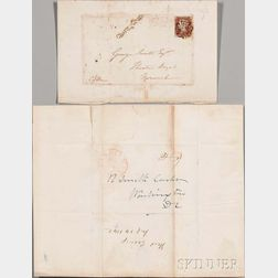 Covers, 1842, Cincinnati, Ohio and Norwich, England.