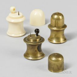 Three Acorn-type Microscopes