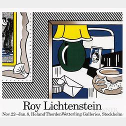 After Roy Lichtenstein (American, 1923-1997)      Exhibition Poster from the Heland Thorden Wetterling Galleries, Stockholm.