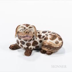 Glazed Porcelain Export Pekingese Dog