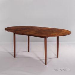 Peter Hvidt for Soborg Møbelfabrik Oval Teak Dining Table