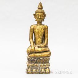 Thai Carved Giltwood Buddha