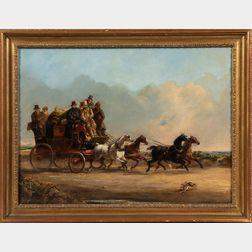 School of William Joseph Shayer (British, 1811-1892)      Mr. Charles Higgins' Coach and Four