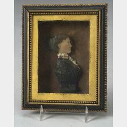 Miniature Wax Profile Portrait of a Woman
