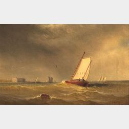 Charles Henry Gifford (Fairhaven, Massachusetts, 1839-1904)  Seascape off New York City.