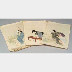 Twenty-six Yukawa Shodo Prints
