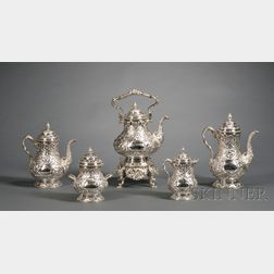 William Gale for Tiffany & Co. Five Piece Sterling Presentation Tea and Coffee Service