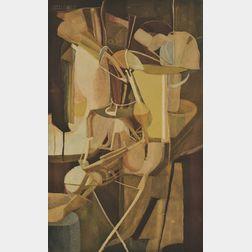 Jacques Villon (French, 1875-1963), After Marcel Duchamp (French, 1887-1968)      La Mariée