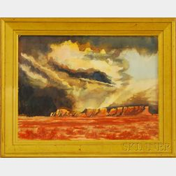 American School, 20th Century      Storm Clouds over the Buttes