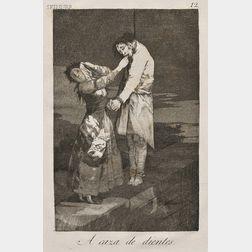 Francisco de Goya (Spanish, 1746-1828)      A caza de dientes