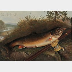 American School, 19th Century      Trout and Reel a Plein Air