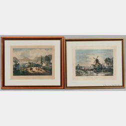 Two Currier & Ives, Publishers (American, 1857-1907) Lithographs,