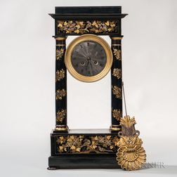 Neoclassical-style French Mantel Clock