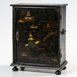 Japanned Oak Spice Cabinet