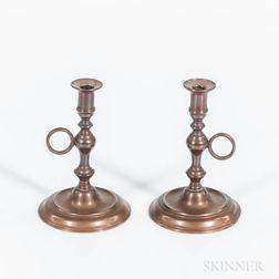Pair of Bell Metal Tapersticks