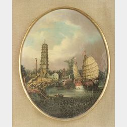 Chinese School, 19th Century  Bustling Harbor View, Possibly Whampoa.