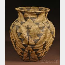 Southwest Pictorial Basketry Olla