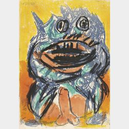 Karel Appel (Dutch, 1921-2006)      Image   for ONE CENT LIFE