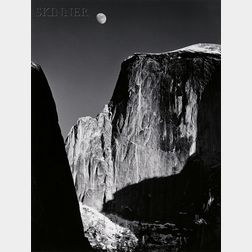 Ansel Adams (American, 1902-1984)      Moon and Half Dome, Yosemite National Park, California