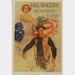 Howard Chandler Christy Lithograph Will Rogers Memorial Fund   Poster