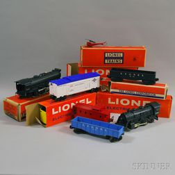 Group of Twenty-two Lionel Plastic and Metal Model Trains