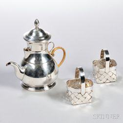 Five Pieces of Cartier Sterling Silver Hollowware