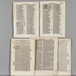 Early and Fine English Printing, Approximately Fourteen Leaves.