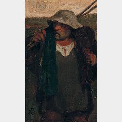 Elihu Vedder (American, 1836-1923)      Italian Peasant