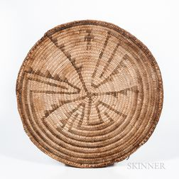 California Coiled Basketry Flat Tray