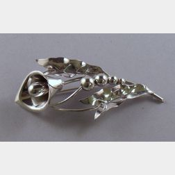 LaPaglia for Georg Jensen USA Sterling Silver Calla Lily Brooch